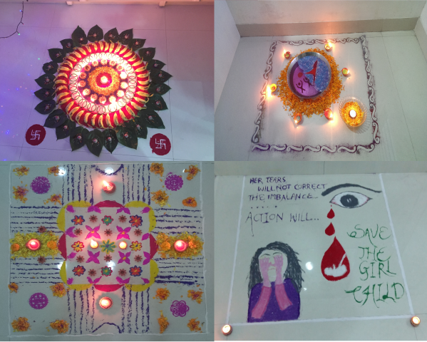 All The Teams Competed With Each Other In Festival Spirit And Brought Forth Beautiful Rangoli Designs Along Amazingly Crafted Lanterns